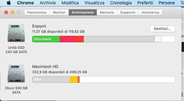 sapere lo spazio libero dell'Hard Disk su Mac OS