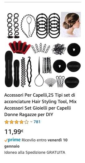 Accessori Per Capelli,25 Tipi set di acconciature
