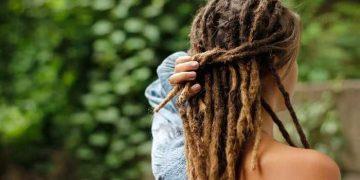 capelli rasta da dietro