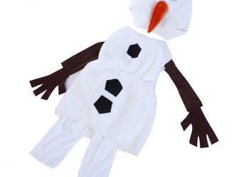 Fare costume fai da te Olaf