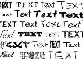 testo scritto in vari modi