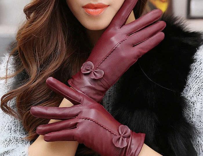 guanti da donna in pelle