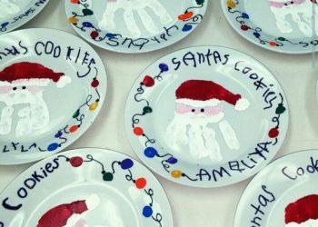 come decorare un piatto natalizio