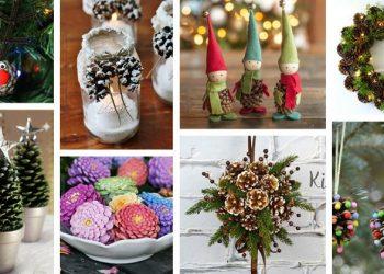 come fare decorazioni di Natale con pigne