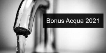 Bonus acqua 2021 domanda