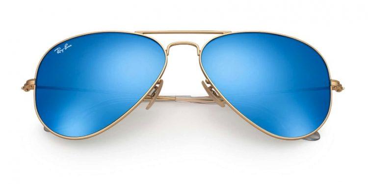 Occhiali da sole Ray Ban originali con lenti blu polarizzate