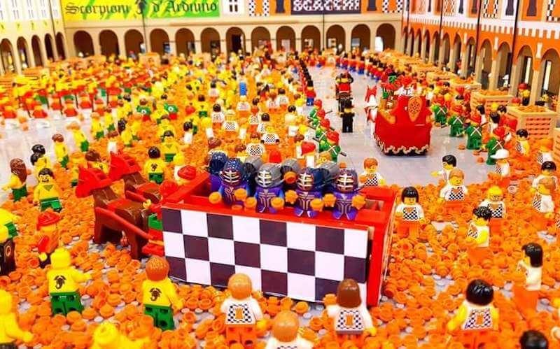 Carnevale ivrea con lego