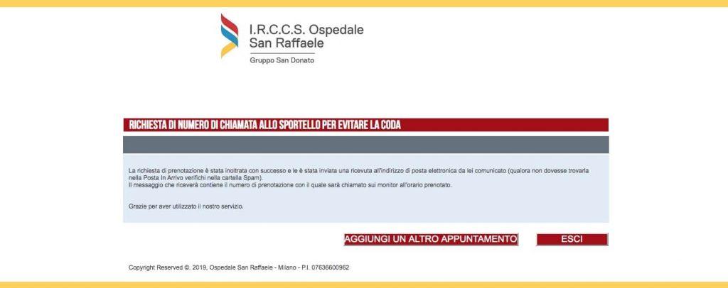 Conclusione registrazione S.Raffaele