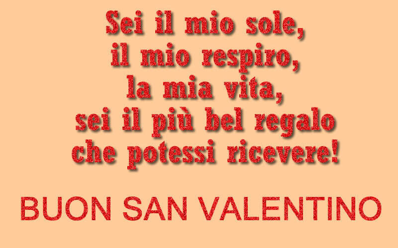 Dichiarazione amore san valentino