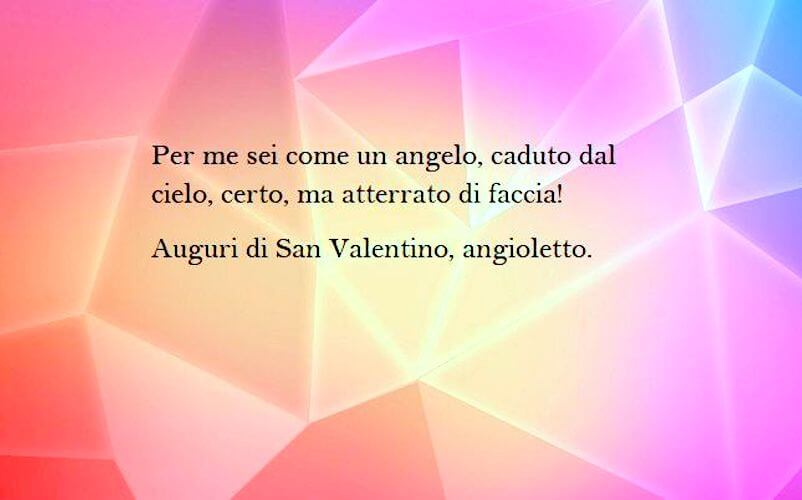 Frase amore angelo san valentino