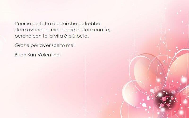 Frase amore per l'uomo san valentino