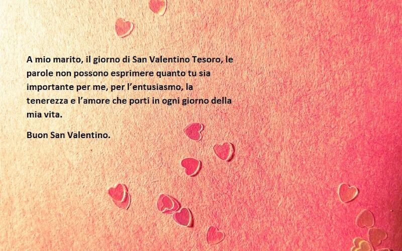 Frase per marito san valentino