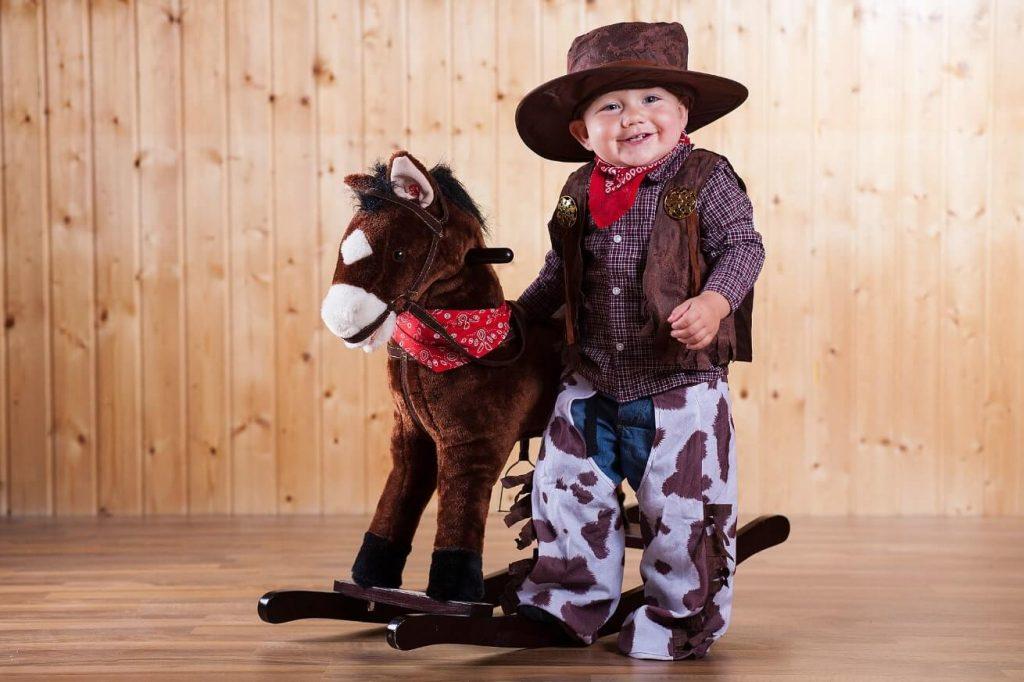 Cowboy con cavallo Carnevale
