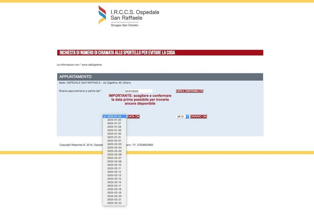 Registrazione data