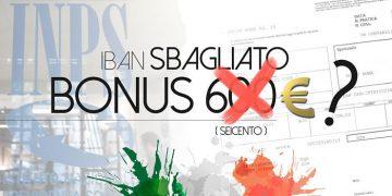 iban sbagliato bonus 600 euro inps