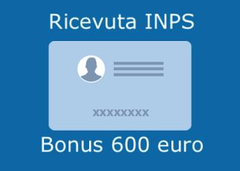 recuperare ricevuta inps bonus 600 euro