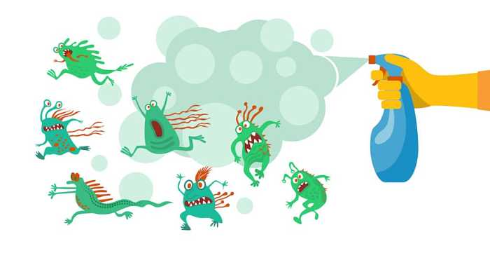 pulizia microbi e batteri