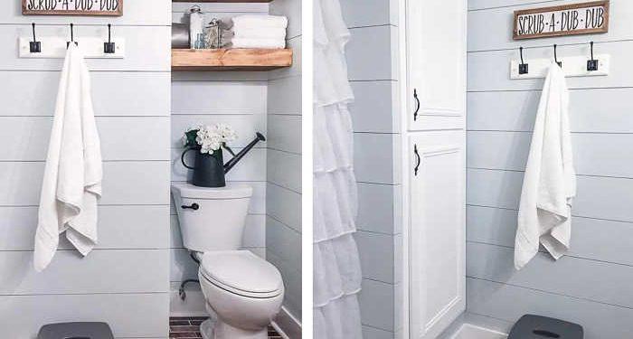 bagno bianco ben sfruttato