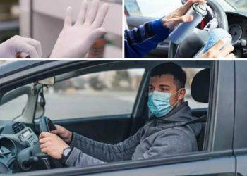 guanti mascherina auto