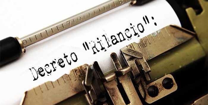 decreto rilancio scritto con macchina da scrivere